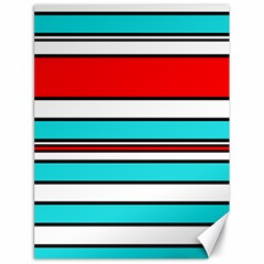 Blue, red, and white lines Canvas 18  x 24