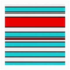 Blue, red, and white lines Medium Glasses Cloth