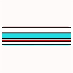 Blue, red, and white lines Large Bar Mats