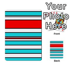 Blue, red, and white lines Multi-purpose Cards (Rectangle)