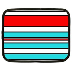 Blue, red, and white lines Netbook Case (XL)