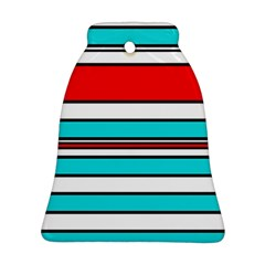 Blue, red, and white lines Bell Ornament (2 Sides)