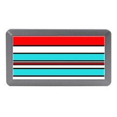 Blue, red, and white lines Memory Card Reader (Mini)