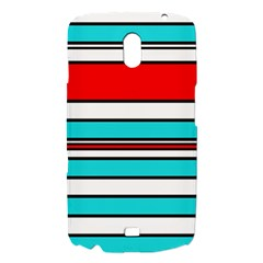 Blue, red, and white lines Samsung Galaxy Nexus i9250 Hardshell Case