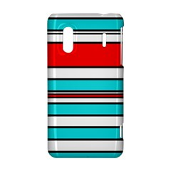 Blue, red, and white lines HTC Evo Design 4G/ Hero S Hardshell Case