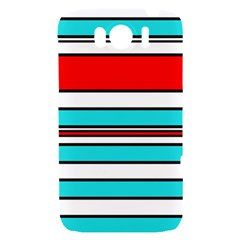 Blue, red, and white lines HTC Sensation XL Hardshell Case