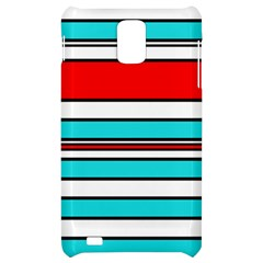 Blue, red, and white lines Samsung Infuse 4G Hardshell Case
