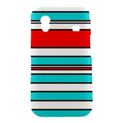 Blue, red, and white lines Samsung Galaxy Ace S5830 Hardshell Case