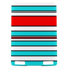 Blue, red, and white lines Kindle Touch 3G