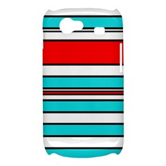Blue, red, and white lines Samsung Galaxy Nexus S i9020 Hardshell Case