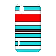 Blue, red, and white lines LG Optimus P970