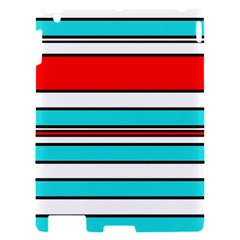 Blue, red, and white lines Apple iPad 2 Hardshell Case