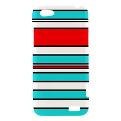 Blue, red, and white lines HTC One V Hardshell Case