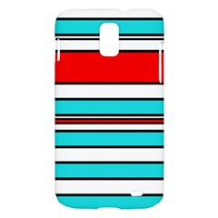 Blue, red, and white lines Samsung Galaxy S II Skyrocket Hardshell Case