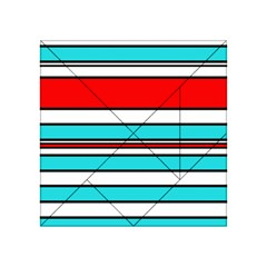 Blue, red, and white lines Acrylic Tangram Puzzle (4  x 4 )
