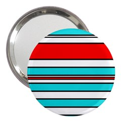Blue, red, and white lines 3  Handbag Mirrors