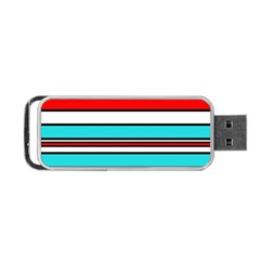 Blue, red, and white lines Portable USB Flash (Two Sides)
