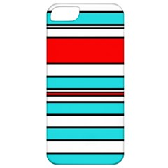 Blue, red, and white lines Apple iPhone 5 Classic Hardshell Case