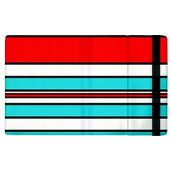 Blue, red, and white lines Apple iPad 2 Flip Case