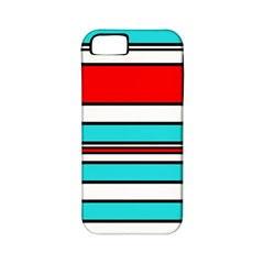 Blue, red, and white lines Apple iPhone 5 Classic Hardshell Case (PC+Silicone)