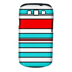 Blue, red, and white lines Samsung Galaxy S III Classic Hardshell Case (PC+Silicone)