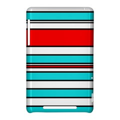 Blue, red, and white lines Nexus 7 (2012)