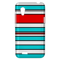 Blue, red, and white lines HTC Desire VT (T328T) Hardshell Case