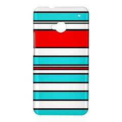 Blue, red, and white lines HTC One M7 Hardshell Case