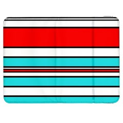 Blue, red, and white lines Samsung Galaxy Tab 7  P1000 Flip Case