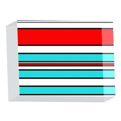 Blue, red, and white lines 5 x 7  Acrylic Photo Blocks