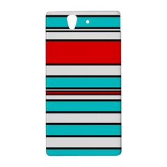 Blue, red, and white lines Sony Xperia Z