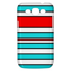 Blue, red, and white lines Samsung Galaxy Win I8550 Hardshell Case