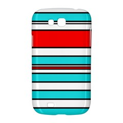 Blue, red, and white lines Samsung Galaxy Grand GT-I9128 Hardshell Case