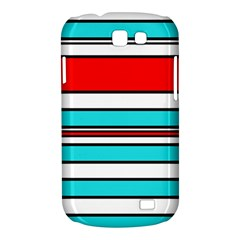 Blue, red, and white lines Samsung Galaxy Express I8730 Hardshell Case