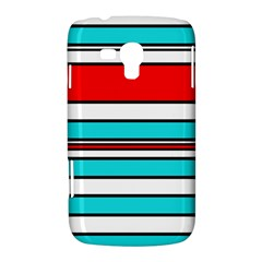 Blue, red, and white lines Samsung Galaxy Duos I8262 Hardshell Case