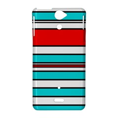 Blue, red, and white lines Sony Xperia V