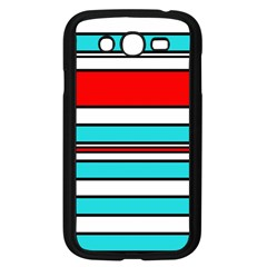 Blue, red, and white lines Samsung Galaxy Grand DUOS I9082 Case (Black)