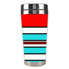 Blue, red, and white lines Stainless Steel Travel Tumblers
