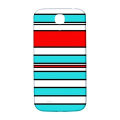 Blue, red, and white lines Samsung Galaxy S4 I9500/I9505  Hardshell Back Case