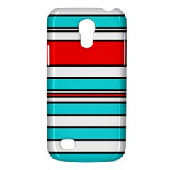 Blue, red, and white lines Galaxy S4 Mini