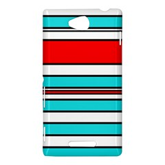 Blue, red, and white lines Sony Xperia C (S39H)