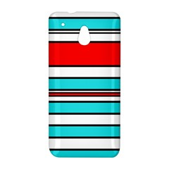 Blue, red, and white lines HTC One Mini (601e) M4 Hardshell Case