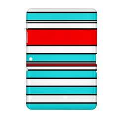 Blue, red, and white lines Samsung Galaxy Tab 2 (10.1 ) P5100 Hardshell Case