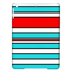 Blue, red, and white lines iPad Air Hardshell Cases