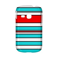 Blue, red, and white lines Samsung Galaxy S6310 Hardshell Case