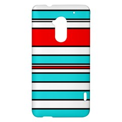 Blue, red, and white lines HTC One Max (T6) Hardshell Case