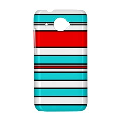 Blue, red, and white lines HTC Desire 601 Hardshell Case
