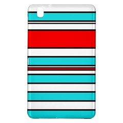 Blue, red, and white lines Samsung Galaxy Tab Pro 8.4 Hardshell Case