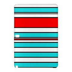 Blue, red, and white lines Samsung Galaxy Tab Pro 12.2 Hardshell Case