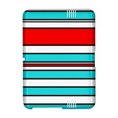 Blue, red, and white lines Amazon Kindle Fire (2012) Hardshell Case